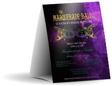 Masquerade Ball Table Tent