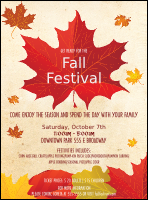 Fall Leaves Flyer