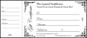 Black and White Gift Certificate 002