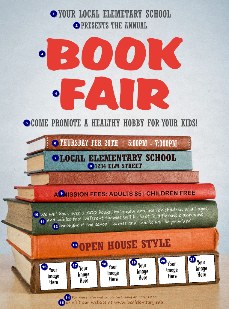 book fair logo flyer