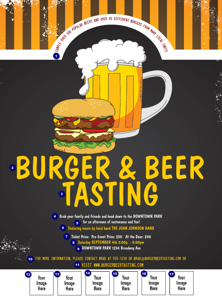 Burgers And Beer Logo Flyer Ticketprinting Com