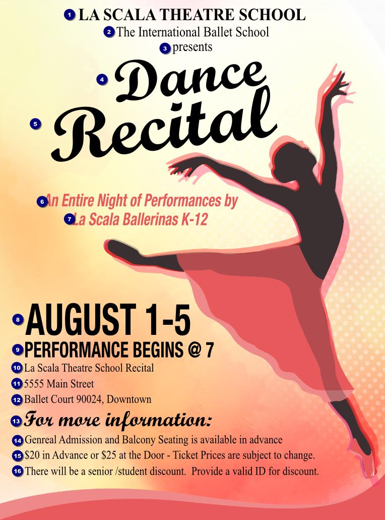 dance silhouette flyer