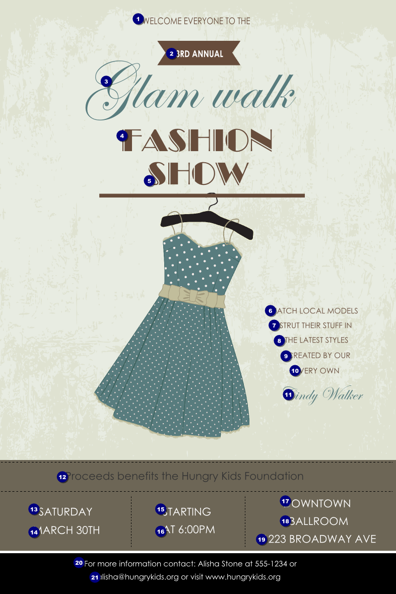 Fashion show poster ticket printing for Fashion show ticket template