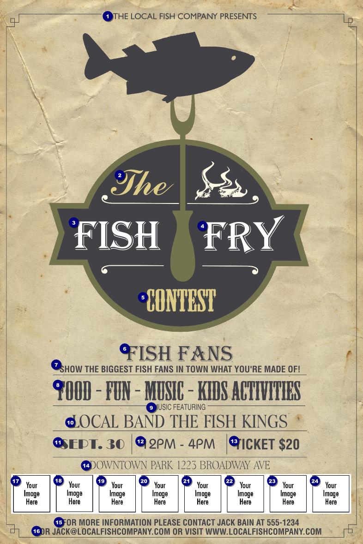 Fish Fry Logo Poster | Ticket Printing