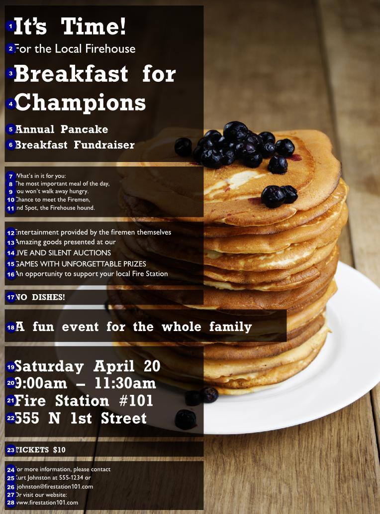 Pancake Breakfast Flyer Ticket Printing